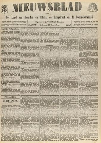 Nieuwsblad het land van Heusden en Altena de Langstraat en de Bommelerwaard 1913-09-20