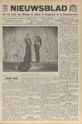 Nieuwsblad het land van Heusden en Altena de Langstraat en de Bommelerwaard 1948-09-13