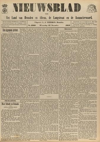 Nieuwsblad het land van Heusden en Altena de Langstraat en de Bommelerwaard 1913-11-12