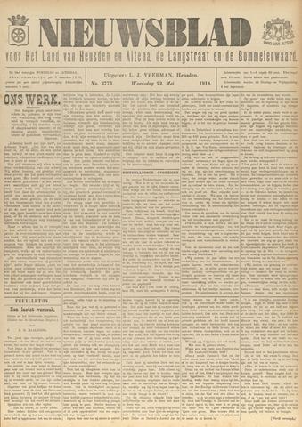 Nieuwsblad het land van Heusden en Altena de Langstraat en de Bommelerwaard 1918-05-22