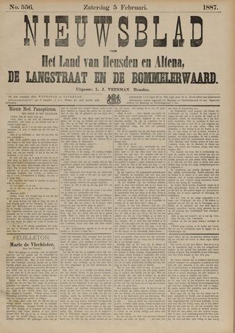 Nieuwsblad het land van Heusden en Altena de Langstraat en de Bommelerwaard 1887-02-05