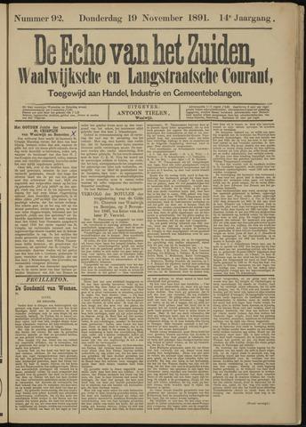 Echo van het Zuiden 1891-11-19