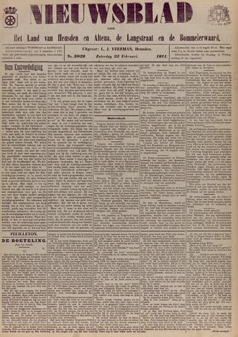 Nieuwsblad het land van Heusden en Altena de Langstraat en de Bommelerwaard 1911-02-25