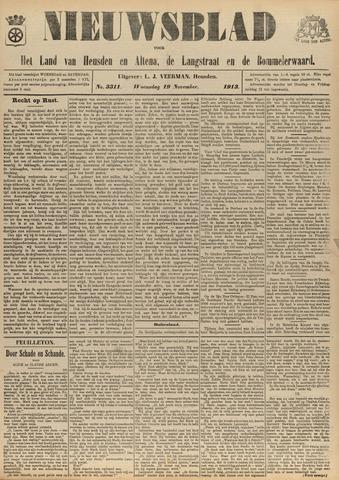 Nieuwsblad het land van Heusden en Altena de Langstraat en de Bommelerwaard 1913-11-19