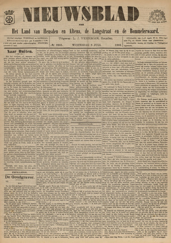 Nieuwsblad het land van Heusden en Altena de Langstraat en de Bommelerwaard 1903-07-08