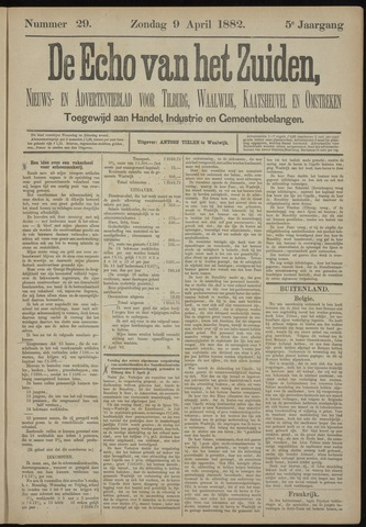 Echo van het Zuiden 1882-04-09