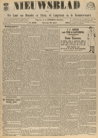 Nieuwsblad het land van Heusden en Altena de Langstraat en de Bommelerwaard 1913-04-19
