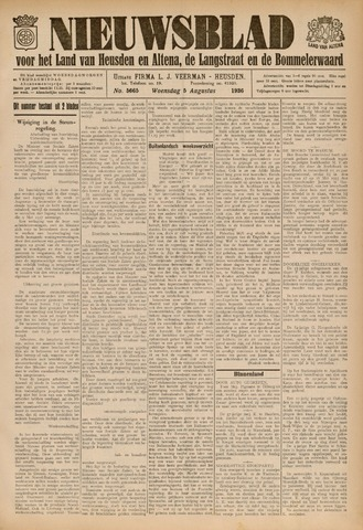 Nieuwsblad het land van Heusden en Altena de Langstraat en de Bommelerwaard 1936-08-05