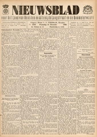 Nieuwsblad het land van Heusden en Altena de Langstraat en de Bommelerwaard 1925-11-11