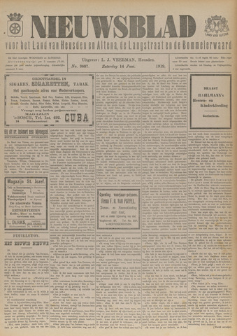 Nieuwsblad het land van Heusden en Altena de Langstraat en de Bommelerwaard 1919-06-14