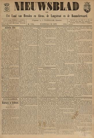 Nieuwsblad het land van Heusden en Altena de Langstraat en de Bommelerwaard 1894-10-31