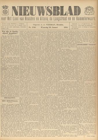 Nieuwsblad het land van Heusden en Altena de Langstraat en de Bommelerwaard 1918-01-23