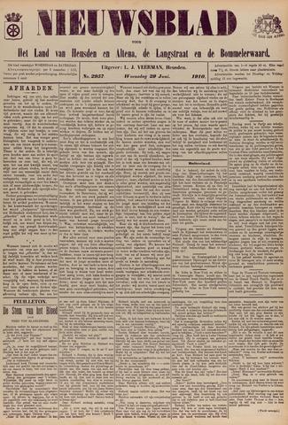 Nieuwsblad het land van Heusden en Altena de Langstraat en de Bommelerwaard 1910-06-29