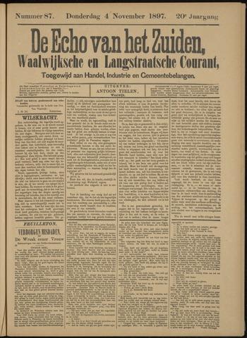 Echo van het Zuiden 1897-11-07