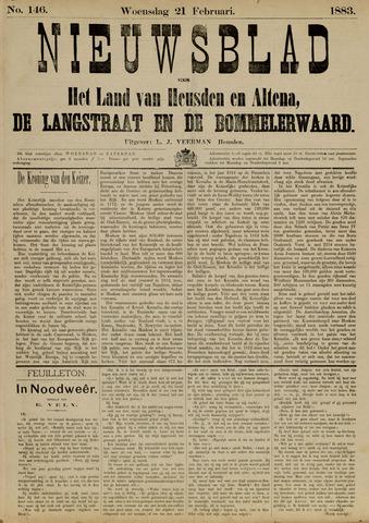 Nieuwsblad het land van Heusden en Altena de Langstraat en de Bommelerwaard 1883-02-21