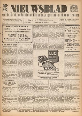 Nieuwsblad het land van Heusden en Altena de Langstraat en de Bommelerwaard 1921-10-22