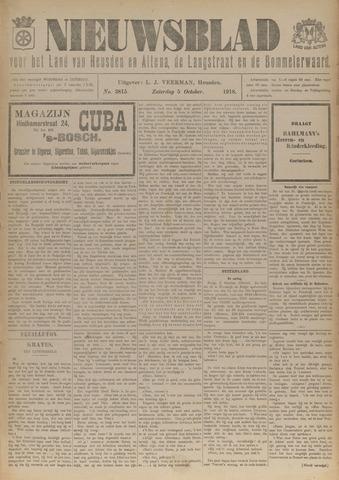 Nieuwsblad het land van Heusden en Altena de Langstraat en de Bommelerwaard 1918-10-05