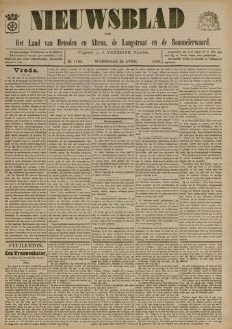 Nieuwsblad het land van Heusden en Altena de Langstraat en de Bommelerwaard 1899-04-26