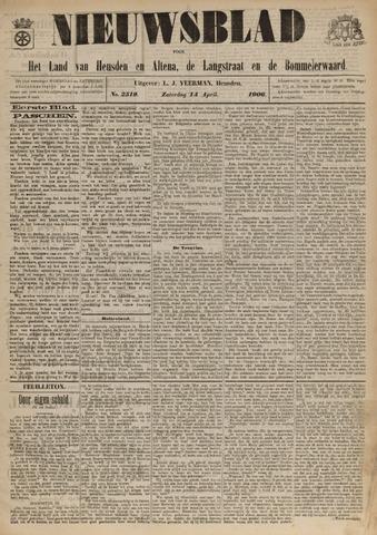 Nieuwsblad het land van Heusden en Altena de Langstraat en de Bommelerwaard 1906-04-14