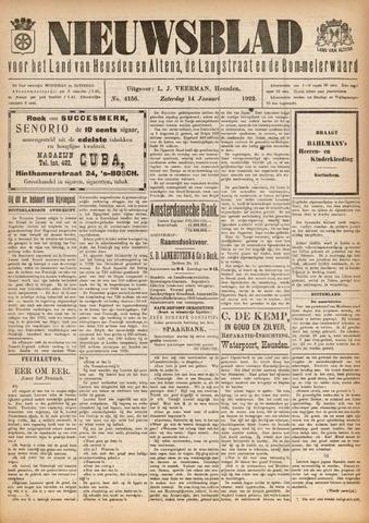 Nieuwsblad het land van Heusden en Altena de Langstraat en de Bommelerwaard 1922-01-14