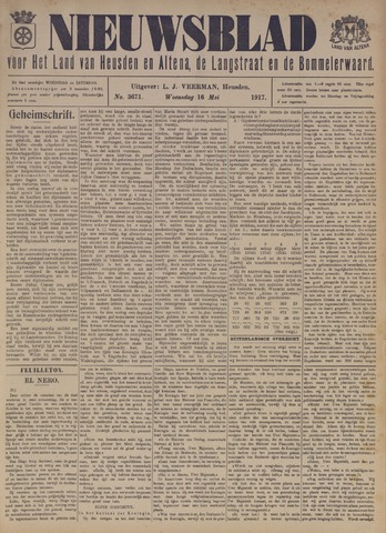 Nieuwsblad het land van Heusden en Altena de Langstraat en de Bommelerwaard 1917-05-16