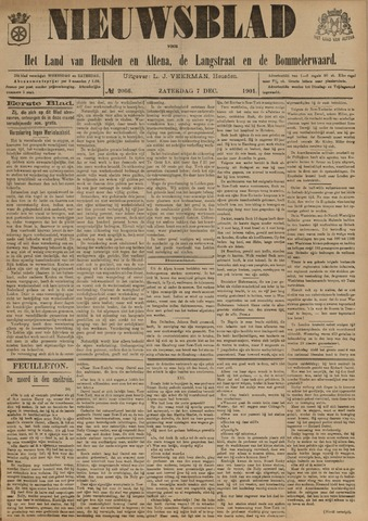 Nieuwsblad het land van Heusden en Altena de Langstraat en de Bommelerwaard 1901-12-07