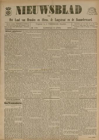 Nieuwsblad het land van Heusden en Altena de Langstraat en de Bommelerwaard 1899-04-15