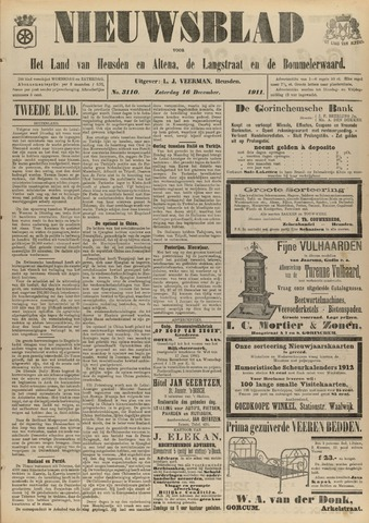 Nieuwsblad het land van Heusden en Altena de Langstraat en de Bommelerwaard 1911-12-16