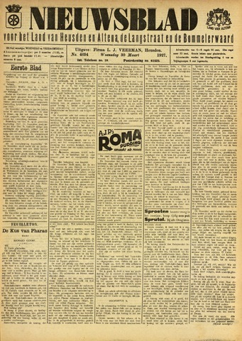 Nieuwsblad het land van Heusden en Altena de Langstraat en de Bommelerwaard 1927-03-30