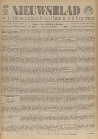 Nieuwsblad het land van Heusden en Altena de Langstraat en de Bommelerwaard 1918-10-09