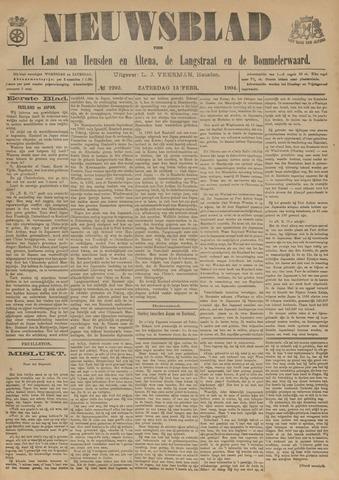 Nieuwsblad het land van Heusden en Altena de Langstraat en de Bommelerwaard 1904-02-13