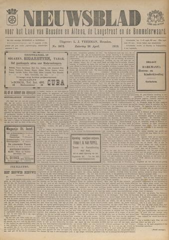 Nieuwsblad het land van Heusden en Altena de Langstraat en de Bommelerwaard 1919-04-26