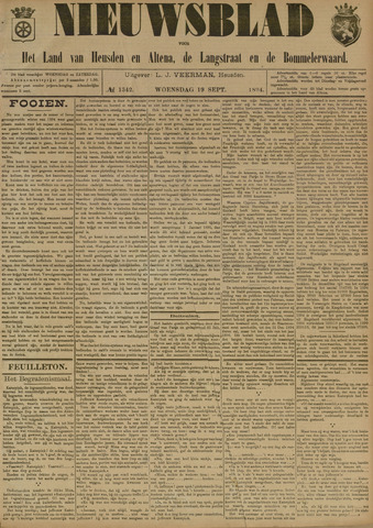 Nieuwsblad het land van Heusden en Altena de Langstraat en de Bommelerwaard 1894-09-19