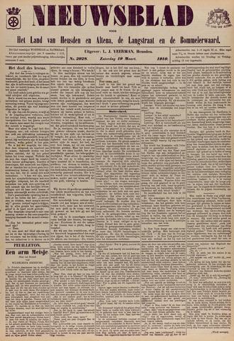 Nieuwsblad het land van Heusden en Altena de Langstraat en de Bommelerwaard 1910-03-19