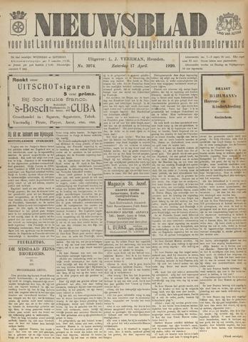Nieuwsblad het land van Heusden en Altena de Langstraat en de Bommelerwaard 1920-04-17