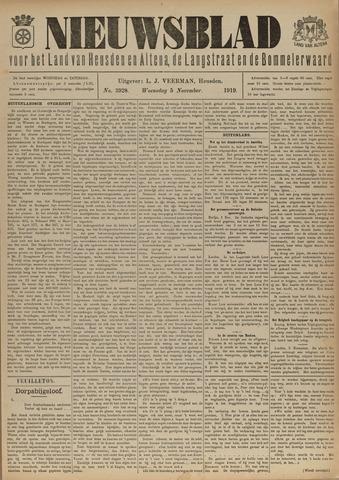 Nieuwsblad het land van Heusden en Altena de Langstraat en de Bommelerwaard 1919-11-05