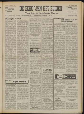 Echo van het Zuiden 1953-02-20
