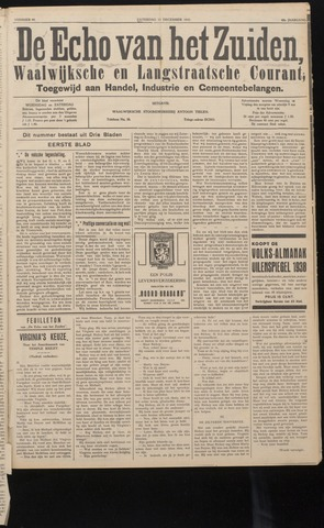 Echo van het Zuiden 1937-12-11