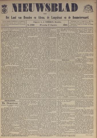 Nieuwsblad het land van Heusden en Altena de Langstraat en de Bommelerwaard 1908-08-05