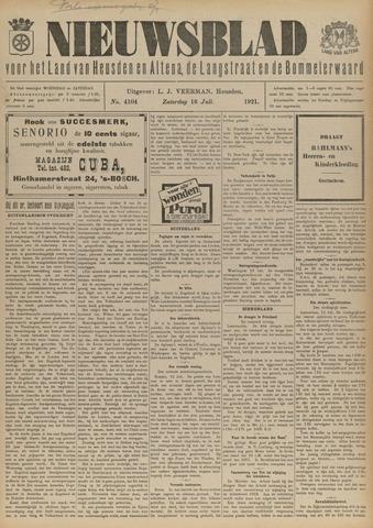 Nieuwsblad het land van Heusden en Altena de Langstraat en de Bommelerwaard 1921-07-16