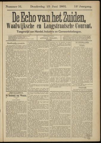 Echo van het Zuiden 1891-06-25