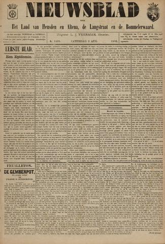 Nieuwsblad het land van Heusden en Altena de Langstraat en de Bommelerwaard 1895-08-03