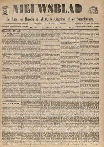 Nieuwsblad het land van Heusden en Altena de Langstraat en de Bommelerwaard 1903-03-07