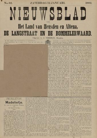 Nieuwsblad het land van Heusden en Altena de Langstraat en de Bommelerwaard 1882-01-14