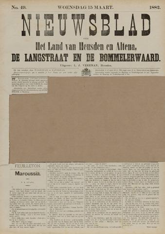 Nieuwsblad het land van Heusden en Altena de Langstraat en de Bommelerwaard 1882-03-15