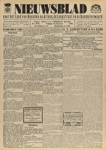 Nieuwsblad het land van Heusden en Altena de Langstraat en de Bommelerwaard 1928-02-10