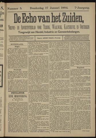 Echo van het Zuiden 1884-01-17