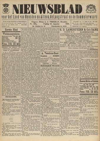 Nieuwsblad het land van Heusden en Altena de Langstraat en de Bommelerwaard 1925-08-14