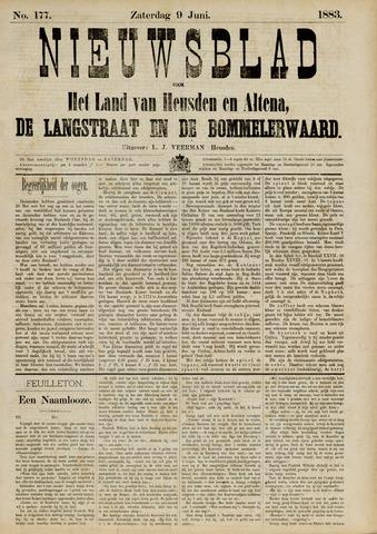 Nieuwsblad het land van Heusden en Altena de Langstraat en de Bommelerwaard 1883-06-09