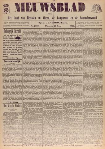 Nieuwsblad het land van Heusden en Altena de Langstraat en de Bommelerwaard 1909-09-22